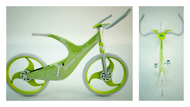 Green Shadow Bike by Mr. Onuff - Incredible bicycle concepts of the future (pictures)