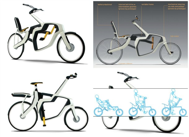 Variable Frame Bike1 - Incredible bicycle concepts of the future (pictures)